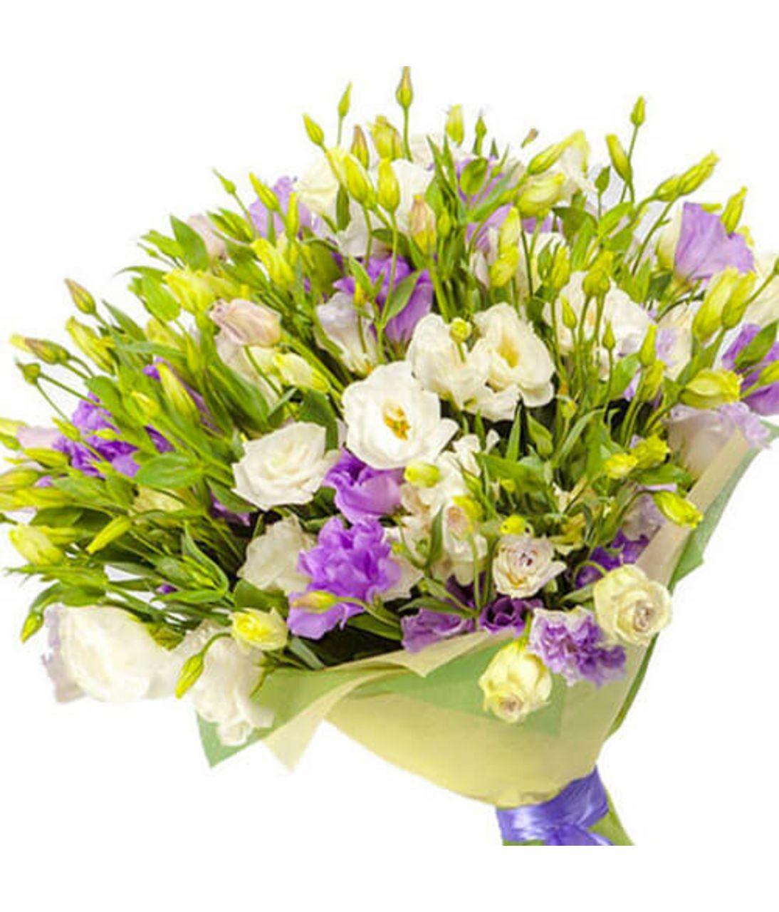 "Букет квітів з еустоми ""17 миттєвостей весни"". Superflowers.com.ua"