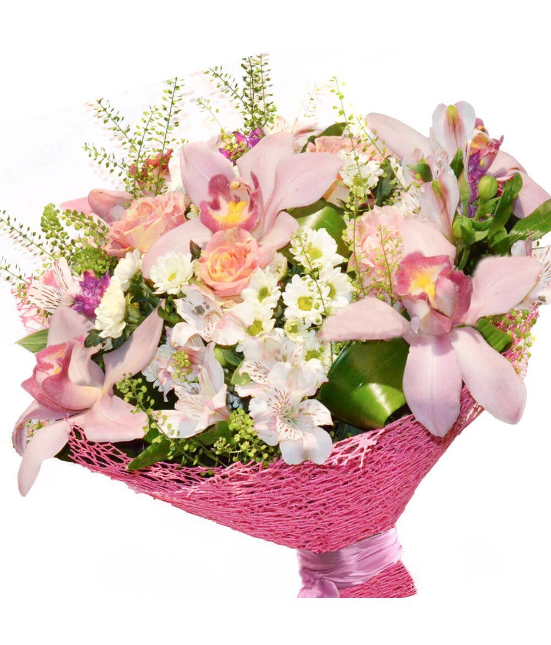 """Букет квітів мікс """"Подаруй радість"""". Superflowers.com.ua. Купити мікс кольорів в Києві"""