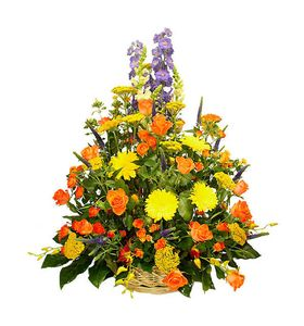 Корзина цветов Чарующее лето