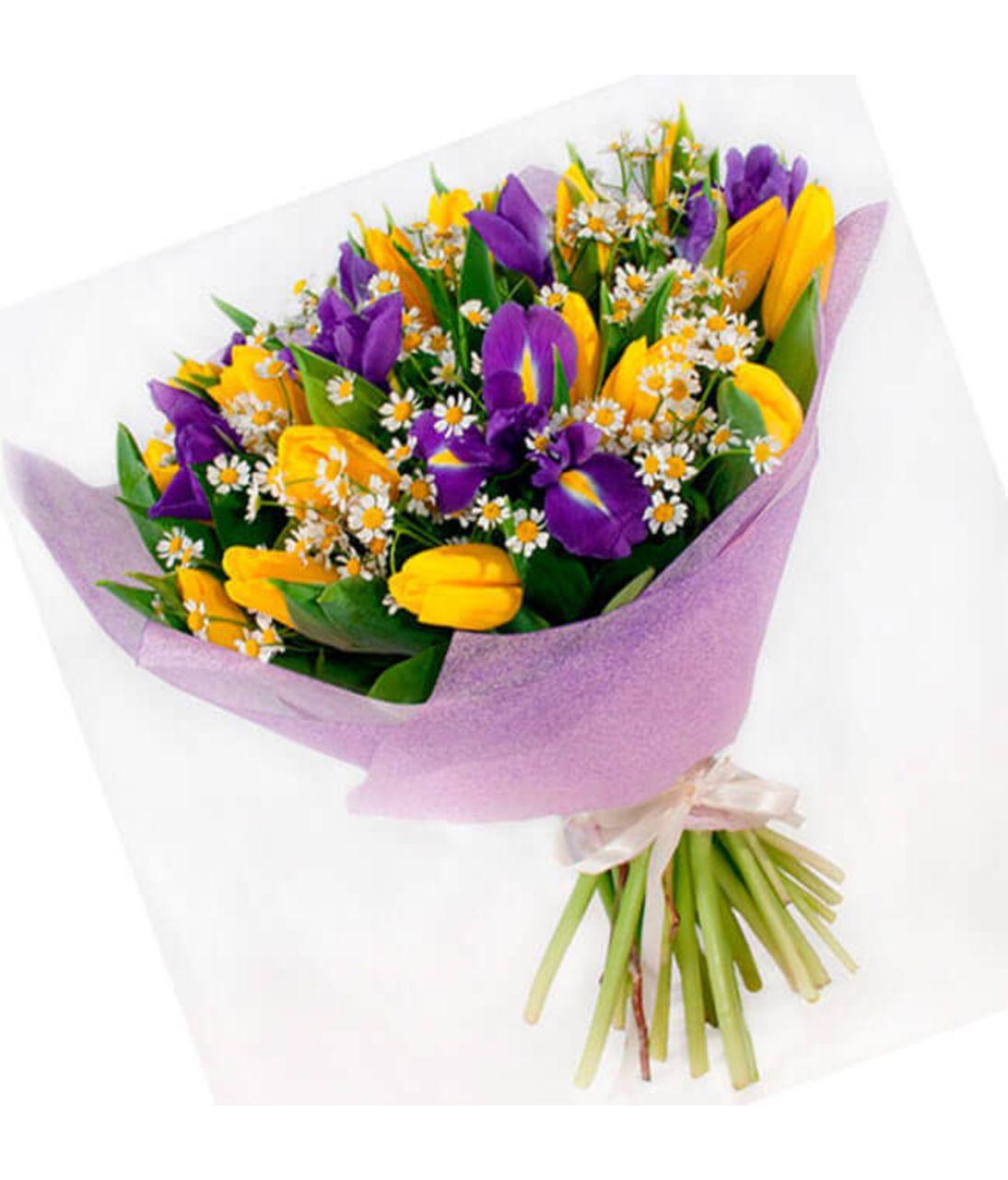 """Букет желтых тюльпанов """"Конфетка"""". Superflowers.com.ua"""