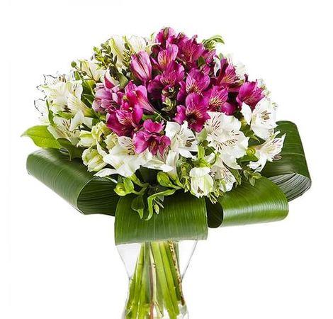 """Букет из 15 альстромерий """"Принцесса"""". Superflowers.com.ua"""