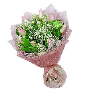 """Букет нежно-розовых тюльпанов """"Радость"""""""