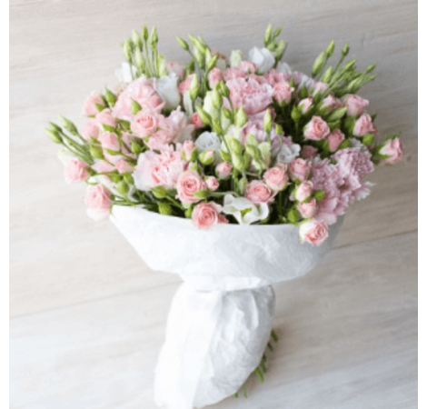 "Букет микс ""Розовая дымка"". Superflowers.com.ua"