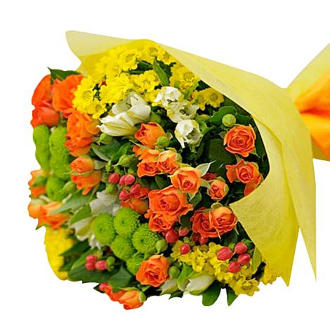 """Букет цветов микс """"Дыхание свежести"""". Superflowers.com.ua. Купить букет из разных цветов """"Дыхание свежести"""""""