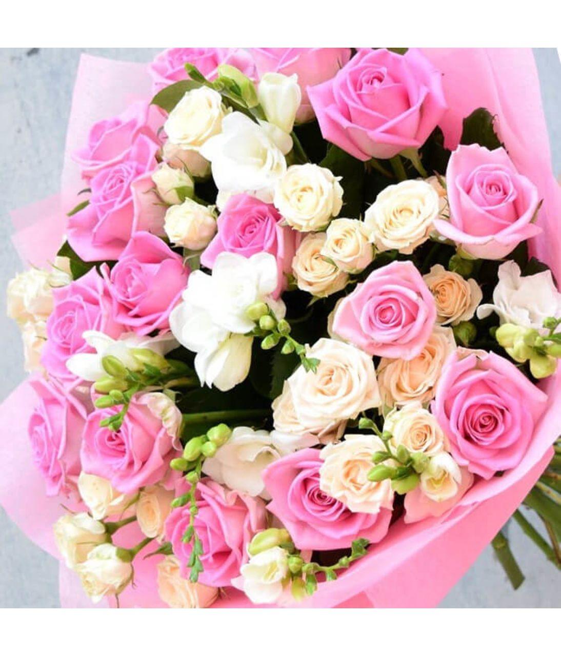 """Сборный букет цветов """"Цветочный микс"""". Superflowers.com.ua. Купить букет из разных цветов в Киеве"""