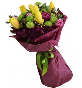 "Букет желтых тюльпанов ""Счастье"". Superflowers.com.ua"