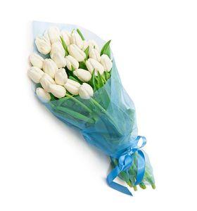"""29 белых тюльпанов """"Тайна"""""""