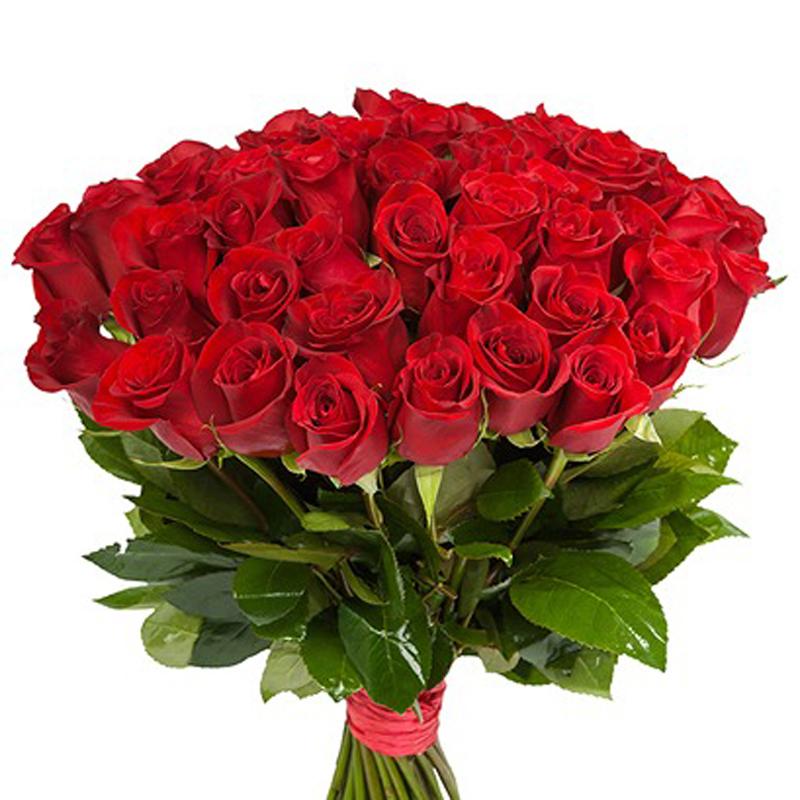 Букет на День Рождения. Красные розы. Superflowers.com.ua. Купить красные розы на именины